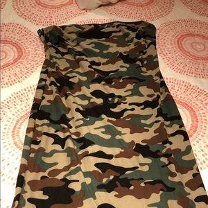 Camo tube dress